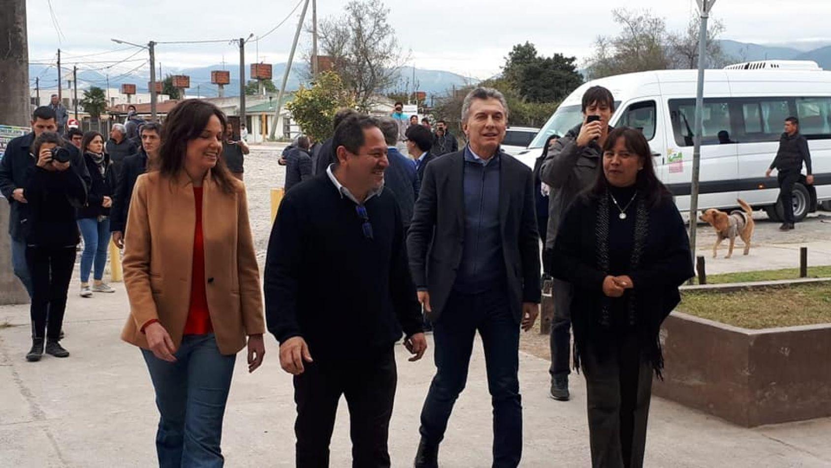 El Presidente M. Macri en Campo Quijano